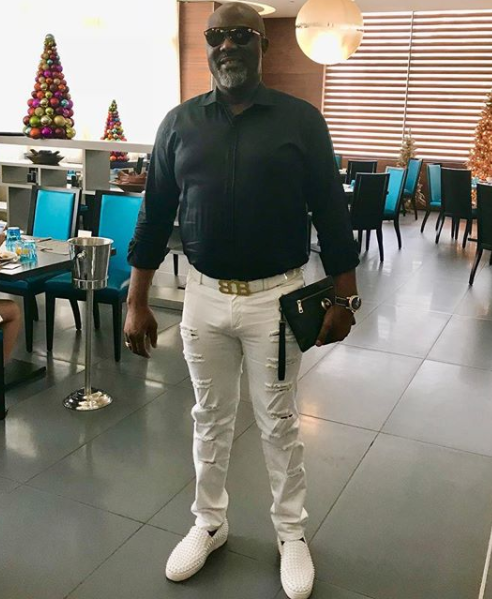Photos: Check out Dino Melaye looking like a guy man in his ripped jeans and N433k Louboutin shoes