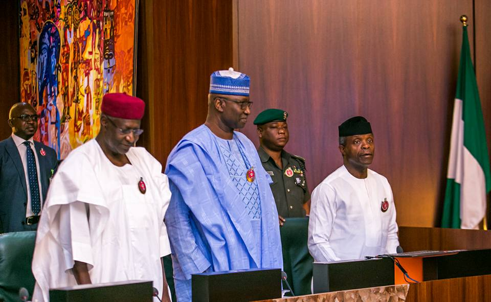 Photos: Vice President Yemi Osinbajo presides over the Federal Executive Council