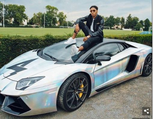 Gabonese and BVB star Pierre-Emerick Aubameyang puts his custom Lamborghini on sale for ?250,000 in Germany?(Photo)