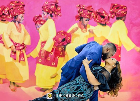 Beautiful pre-wedding photos of actor Kenneth Okolie and his bride-to-be, Jessica