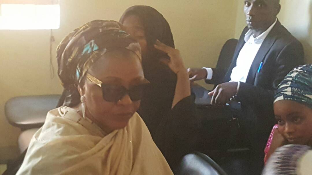 Photos: Maryam Sanda who stabbed her husband to death in Abuja arraigned in court alongside her mother, two others