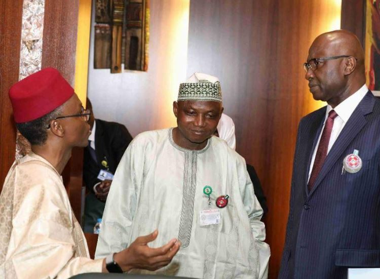 Governor Ambode attends the National Economic Council (NEC) meeting in Abuja presided over by VP Osinbajo (Photos)