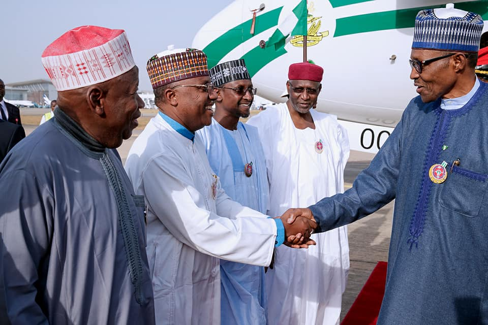 Photos:?President Buhari returns to Nigeria after participating at the One Planet Summit in Paris