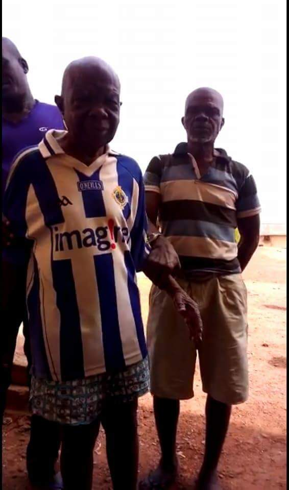 Photos: Nigerian activist calls on President Buhari to pardon a 99-year-old man who has spent 17 years in Enugu Prison
