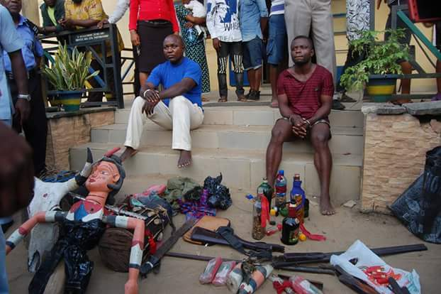 Photos: Akwa Ibom Police arrest 67 cult members, members of notorious armed robbery syndicate, recover fetish items, arms and ammunition