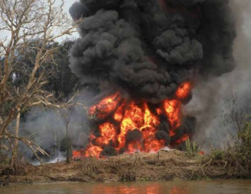 Fire kills at least 20 people at an Illegal refinery In Bayelsa