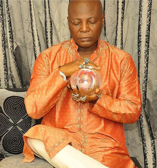 """F*** the con men of God"": Charley Boy says as he shares spooky photo of himself with a Buddhist monk"