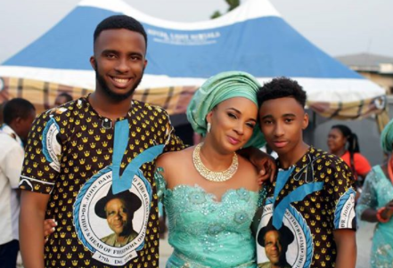 Actress Ibinabo Fiberesima shares photo with her handsome sons