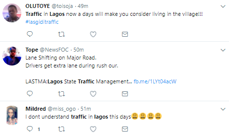 The traffic in Lagos yesterday was unbearable and people are complaining on twitter!