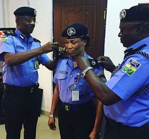 Photo:?Nigeria?s First Olympic Gold Medalist, Chioma Ajunwa gets promoted to the rank of ACP