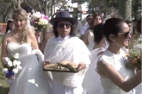 Young brides marry trees in bizarre mass wedding officiated by a ?priest?