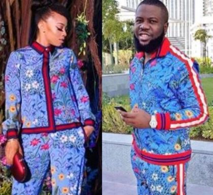 Toke Makinwa VS Hushpuppi: Who rocked this?N1.1m Gucci floral print pyjamas better?