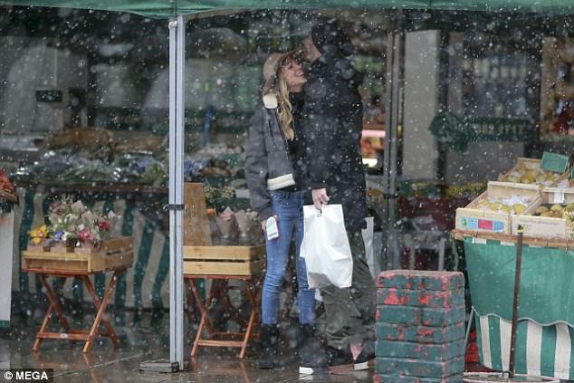 Footballer Alvaro Morata and pregnant wife go shopping for baby clothes in London (Photos)