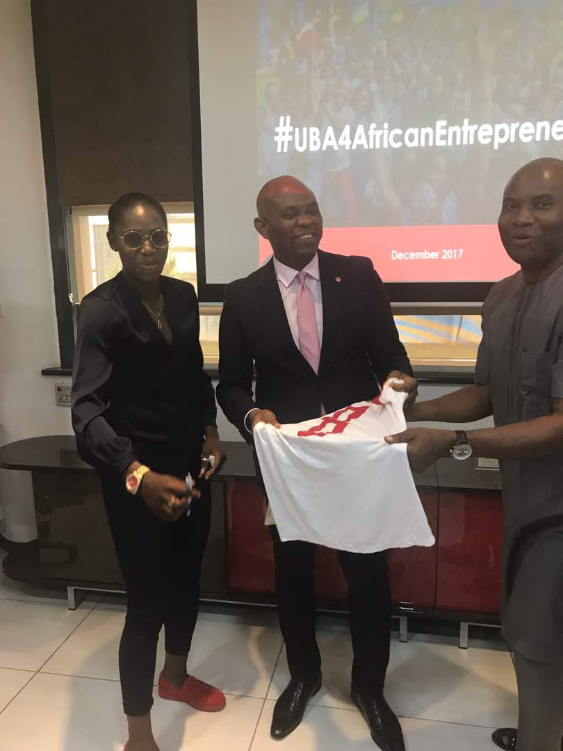 Photos:?Reigning African footballer of the year Asisat Oshoala meets?Tony Elumelu in Lagos