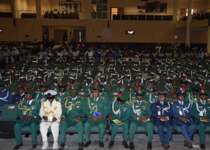 Photos:?Nigerian Army matriculates 360 cadets into various academic courses