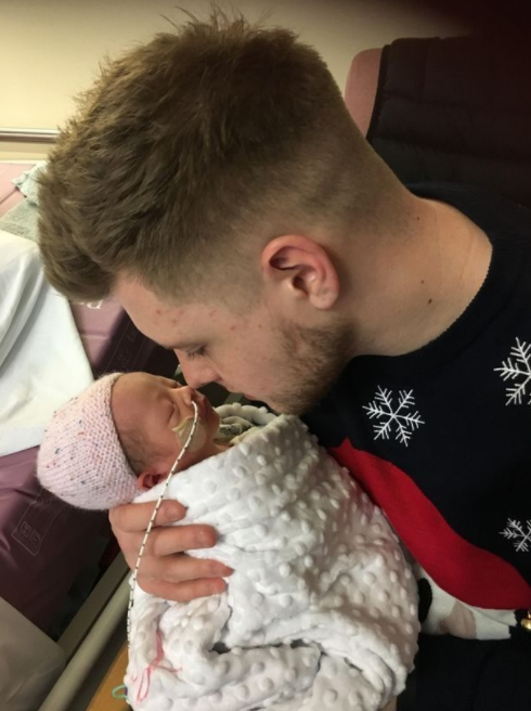 Double Christmas cheer for young couple who welcomed two babies in 2017 just 11 months apart