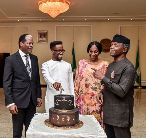 Photos of VP Yemi Osinbajo and his wife, Dolapo, at his nephew, Laolu