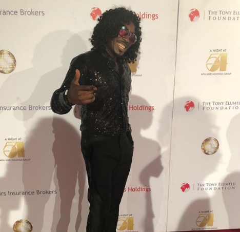 Lol. See Bovi dressed as a black Michael Jackson
