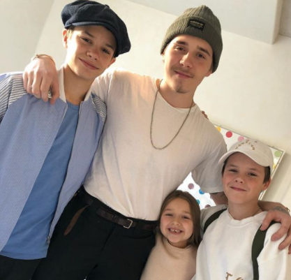 Victoria Beckham shares rare family snap of all her kids as Brooklyn comes home for Christmas