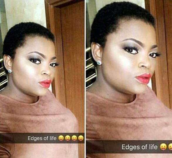 Funke Akindele-Bello shows off new look low cut