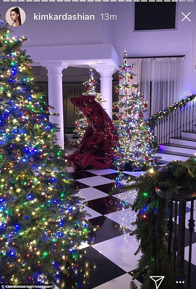 The Kardashian Christmas: Kim, Kourtney, Khloe, Kylie and Kris give a glimpse at how they decorated their mega-mansions (Photos)