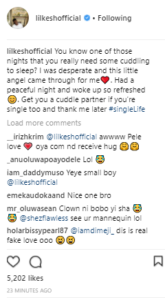 Musician Lil Kesh sleeps with headless blowup doll to quench his desperation for overnight cuddling