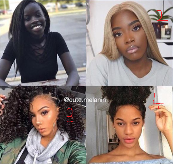 This photo collage is proof that black is beautiful in every shade