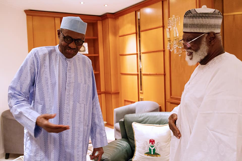 Photos: Former Head of State, Abdulsalam Abubakar pays courtesy visit to?President Buhari?