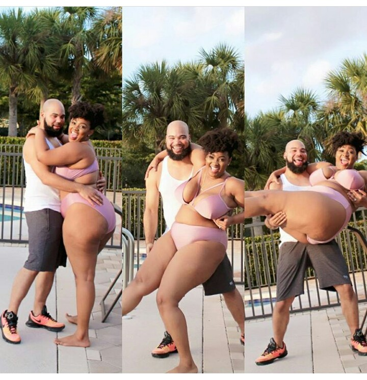 Cute viral photo of a plus size lady and her boo