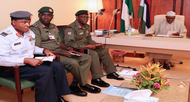 President Buhari extends the tenure of all Service Chiefs