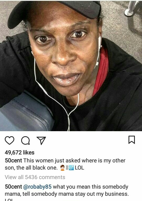 Lol, 50 Cent trolls elderly woman on IG for asking about his estranged son?