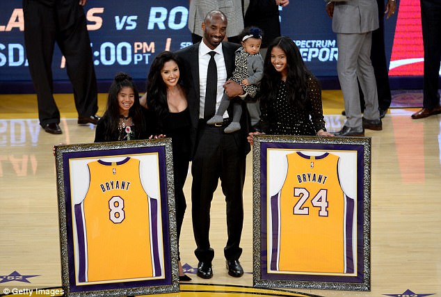 Los Angeles Lakers honours Kobe Bryant as they retire two of his jerseys following stellar 20-year career (Photos)