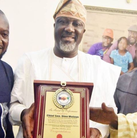 Photo: Dino Melaye wins?award as best senator in Kogi State since 1999