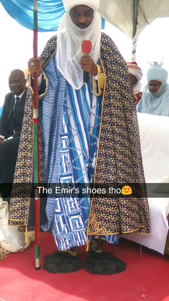 Photo: Emir of Kano, Sanusi Lamido and his