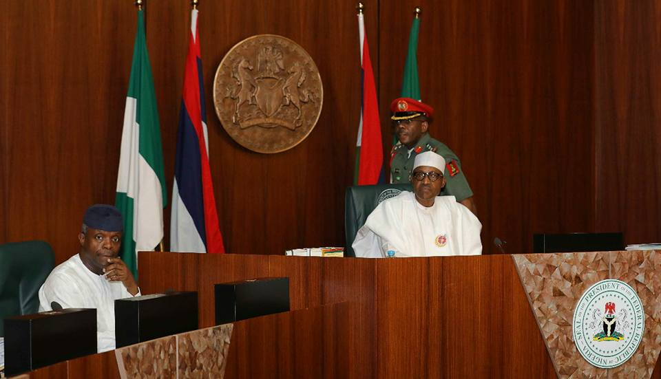 President Buhari presides over Federal Executive Council meeting, swears in 7 new permanent secretary