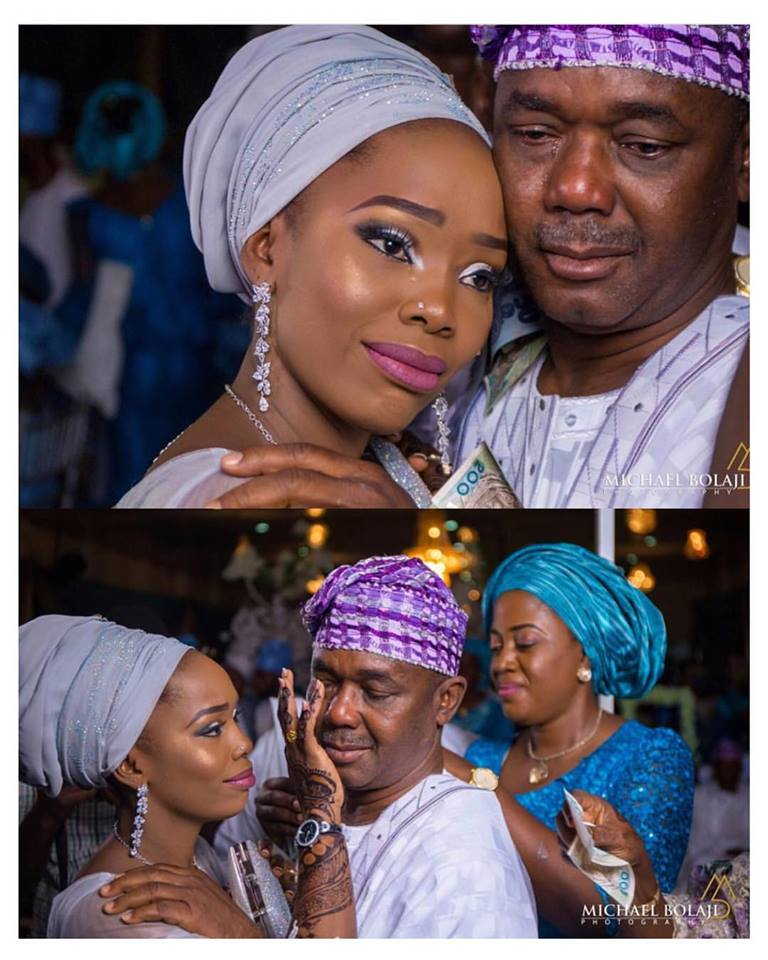Adorable photos of a father and his daughter crying on her wedding day