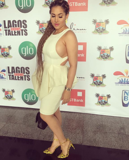 Caroline Danjuma goes braless to an event in Lagos (photos)
