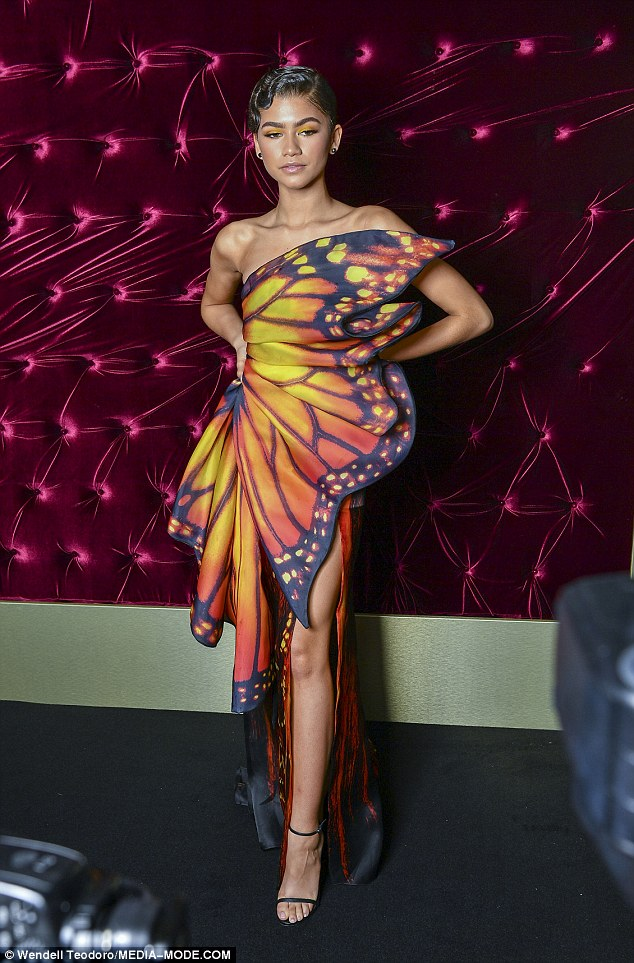 Zendaya stuns in new photos as she dazzles in butterfly-inspired dress for