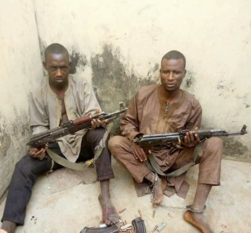 Photo: Police arrest?2 deadly kidnappers operating along Abuja-Kaduna highway