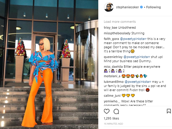 Unbothered! Stephanie Coker shares stylish new pic on Instagram after husband was arraigned in court for property fraud