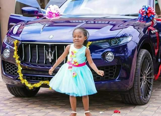 Photos: Wealthy Malawian pastor, Prophet Bushiri buys brand new Maserati for his daughter on her 6th birthday
