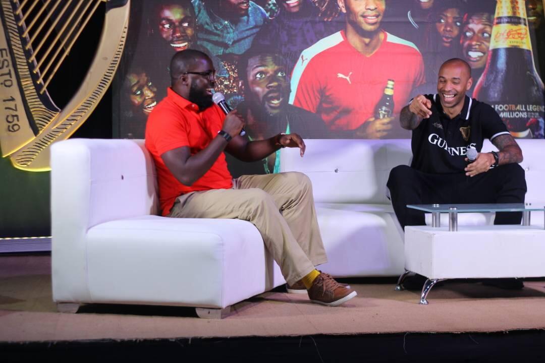 International Football Icon Thierry Henry visits Nigeria
