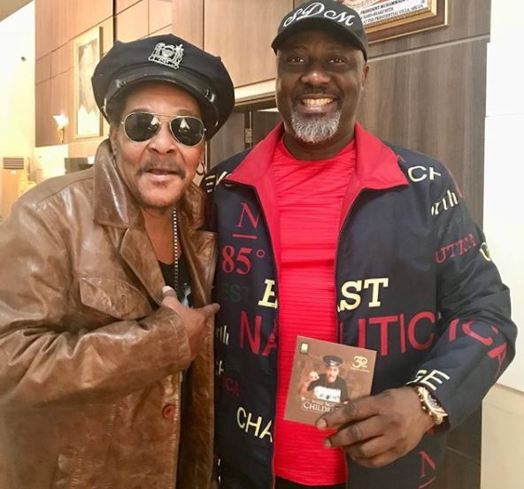 Photo: Majek Fashek pays courtesy visit to Dino Melaye in Abuja
