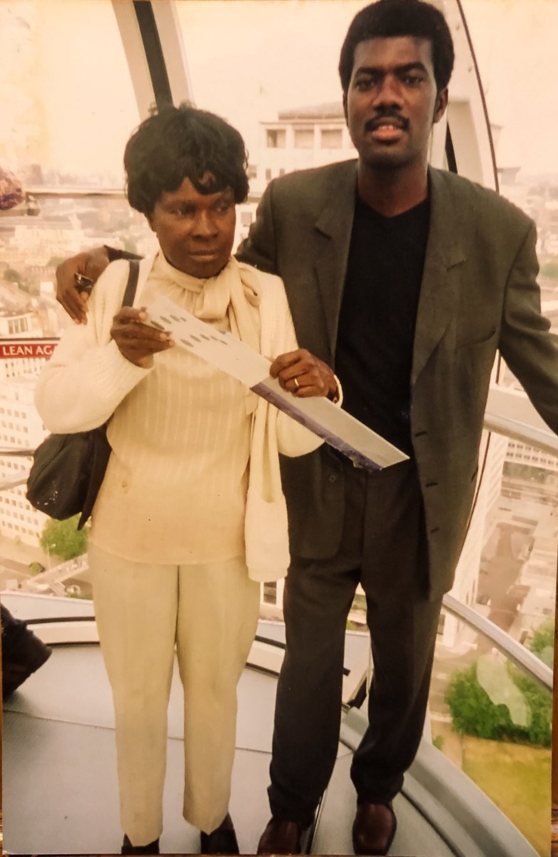 Reno Omokri shares throwback photo of himself and his mum from 15 years ago...