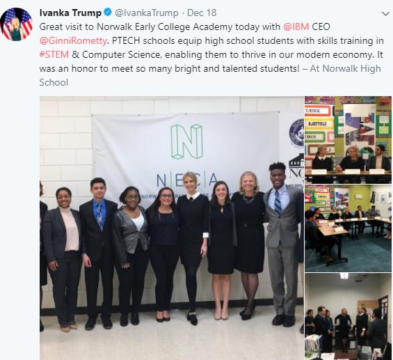 Parents upset after Ivanka Trump visits high school unannounced