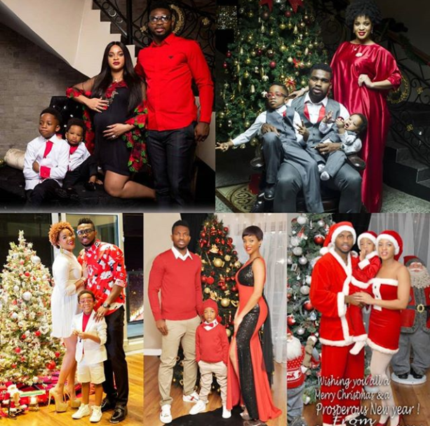 Adaeze Yobo shares photo collage of the Yobo family Christmas photos from 2012 to 2016