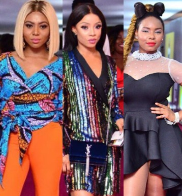 Photos: Omotola, Toke Makinwa, Stephanie Coker, Davido, Simi, Yemi Alade, Adunni Ade, others at the #FalzExperience concert