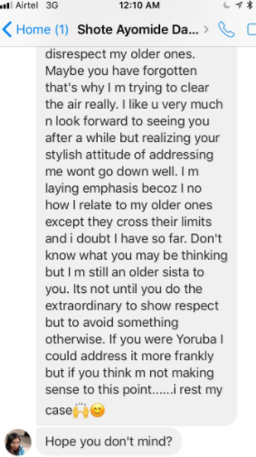 Lol! Lady shares a message from an old friend who was two classes above her, demanding she addresses her as