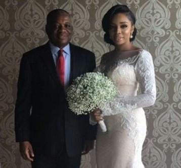 First photos from the white wedding of the daughter of former Abia state governor, Neya Uzor-Kalu