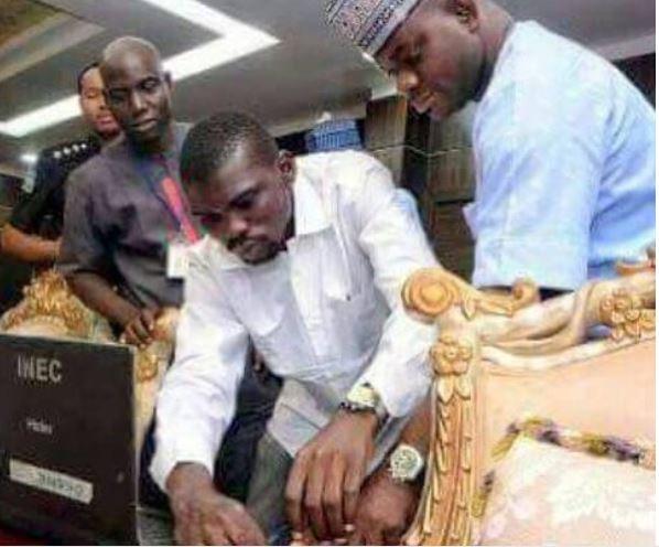 Lol!?Ajekun Iya nio je - DIno Melaye mocks Governor Yahaya Bello over his alleged double registration with INEC